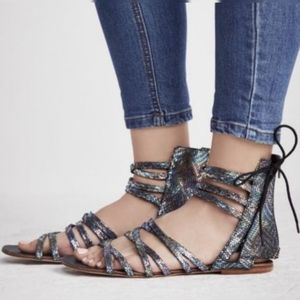 Free People Iridescent Juliette Gladiator Sandals